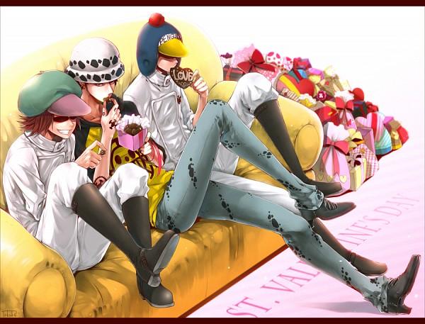 Tags: Anime, Takuhei, ONE PIECE, Trafalgar Law, Penguin (ONE PIECE), Shachi (ONE PIECE), Chocolate Box, Chocolate Heart, Heart Box, Pixiv, Heart Pirates