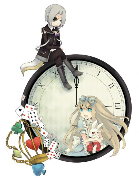 Tags: Anime, Mitsutoki, Heart no Kuni no Alice, Nightmare Gottschalk, Peter White, Alice (Alice in Wonderland), Semi Chibi, Fanart, Pixiv, Fanart From Pixiv, Alice In The Country Of Hearts