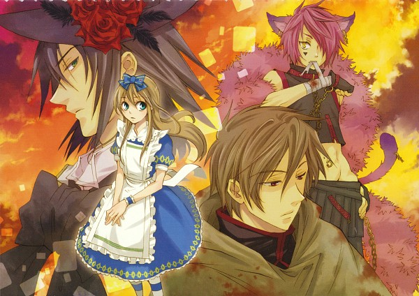 Tags: Anime, QuinRose, Alice in Wonderland, Heart no Kuni no Alice, Alice Liddell, Ace (Heart no Kuni no Alice), Boris Airay, Blood Dupre, Navel Piercing, Alice In The Country Of Hearts