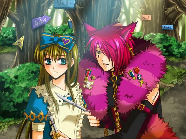 Tags: Anime, Heart no Kuni no Alice, Alice Liddell, Boris Airay, Cheshire Cat, CG Art, Alice In The Country Of Hearts