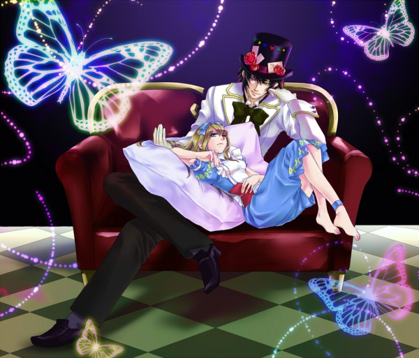 Tags: Anime, QuinRose, Heart no Kuni no Alice, Blood Dupre, Mad Hatter, Alice Liddell, Alice In The Country Of Hearts