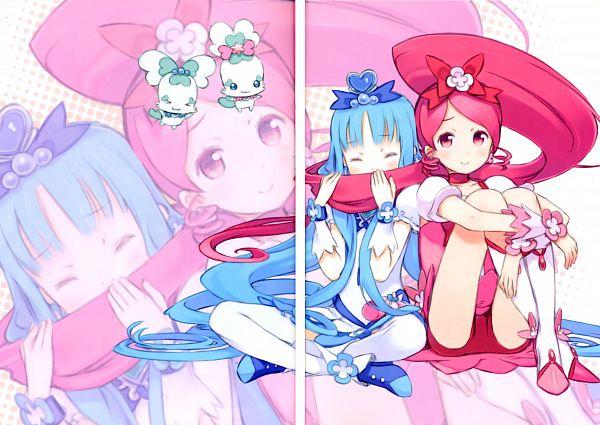 Tags: Anime, Kuroboshi Kouhaku, Heartcatch Precure!, GRANADA LEVEL P, Kurumi Erika, Cure Blossom, Coffret, Cure Marine, Shypre, Hanasaki Tsubomi, Fanart, Scan