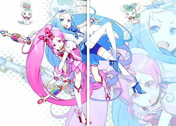 Tags: Anime, Kuroboshi Kouhaku, Heartcatch Precure!, GRANADA LEVEL P, Kurumi Erika, Cure Blossom, Coffret, Cure Marine, Shypre, Hanasaki Tsubomi, Scan, Fanart