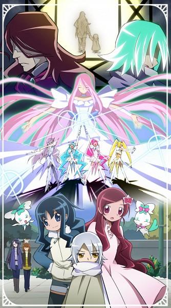 Tags: Anime, Kirara-sakura, Heartcatch Precure!, Super Cure Sunshine, Kurumi Erika, Tsukikage Yuri, Cure Moonlight, Super Cure Marine, Cure Blossom, Potpourri, Heartcatch Orchestra Entity, Coffret, Super Cure Blossom
