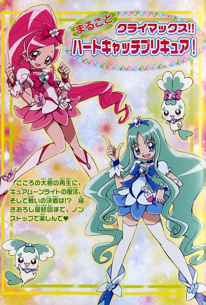 Tags: Anime, Kamikita Futago, Heartcatch Precure!, Cure Blossom, Coffret, Cure Marine, Shypre, Hanasaki Tsubomi, Kurumi Erika, Scan, Official Art