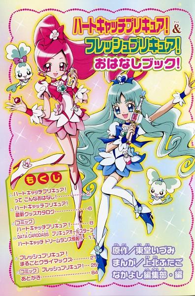 Tags: Anime, Kamikita Futago, Heartcatch Precure!, Coffret, Cure Marine, Shypre, Hanasaki Tsubomi, Kurumi Erika, Cure Blossom, Scan, Manga Color, Official Art, Mobile Wallpaper