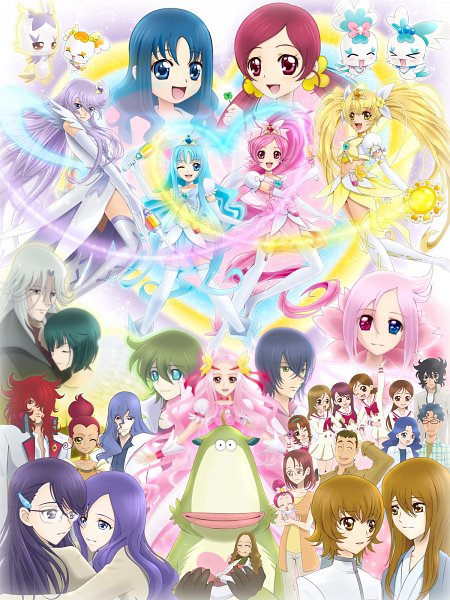 Tags: Anime, Sekken Kasu Barrier, Heartcatch Precure!, Professor Sabaaku, Hanasaki Mizuki, Hanasaki Tsubomi, Super Cure Moonlight, Cure Flower, Tsukikage Yuri, Shiku Nanami, Kumojacky, Infinity Silhouette, Coupé