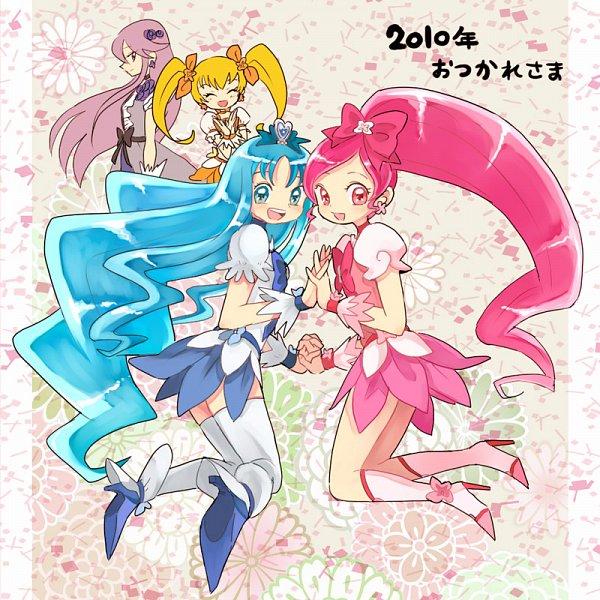 Tags: Anime, Pixiv Id 210786, Heartcatch Precure!, Cure Blossom, Cure Marine, Cure Moonlight, Tsukikage Yuri, Hanasaki Tsubomi, Myoudouin Itsuki, Kurumi Erika, Cure Sunshine, Fanart From Pixiv, Pixiv