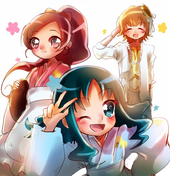 Tags: Anime, Pixiv Id 1706251, Heartcatch Precure!, Hanasaki Tsubomi, Kurumi Erika, Myoudouin Itsuki, Twitter, Tumblr, Fanart From Pixiv, Pixiv, Fanart