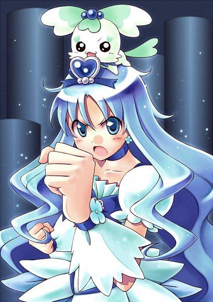 Tags: Anime, Satogo, Heartcatch Precure!, Kurumi Erika, Cure Marine, Coffret, Fanart From Pixiv, Pixiv, Fanart