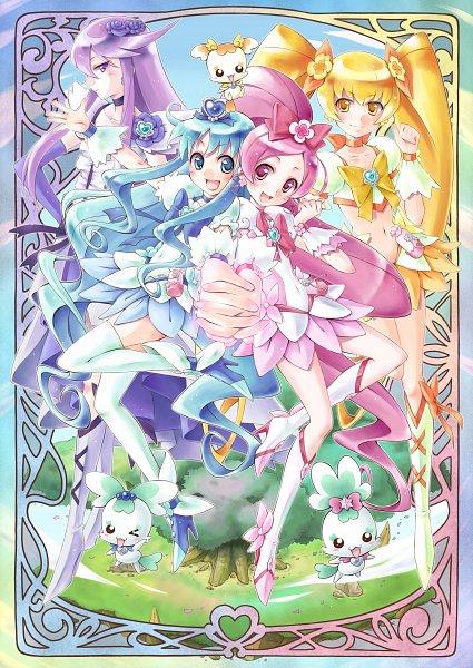 Tags: Anime, Satogo, Heartcatch Precure!, Kurumi Erika, Tsukikage Yuri, Cure Moonlight, Cure Blossom, Potpourri, Coffret, Cure Marine, Myoudouin Itsuki, Shypre, Cure Sunshine