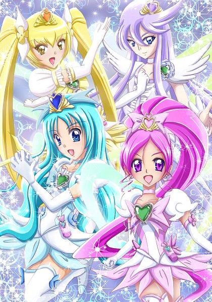 Tags: Anime, Pixiv Id 135198, Heartcatch Precure!, Tsukikage Yuri, Hanasaki Tsubomi, Super Cure Moonlight, Myoudouin Itsuki, Kurumi Erika, Super Cure Sunshine, Cure Sunshine, Cure Blossom, Super Cure Marine, Cure Marine