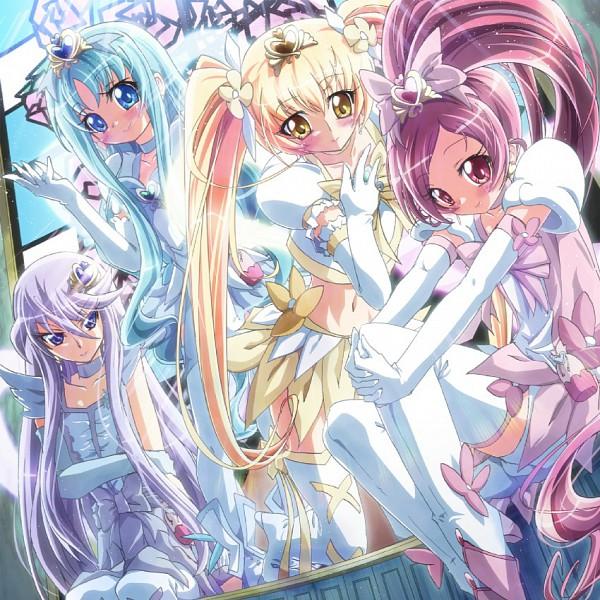 Tags: Anime, Ikatomo, Heartcatch Precure!, Kurumi Erika, Super Cure Sunshine, Cure Sunshine, Cure Blossom, Super Cure Marine, Cure Marine, Super Cure Blossom, Cure Moonlight, Tsukikage Yuri, Hanasaki Tsubomi