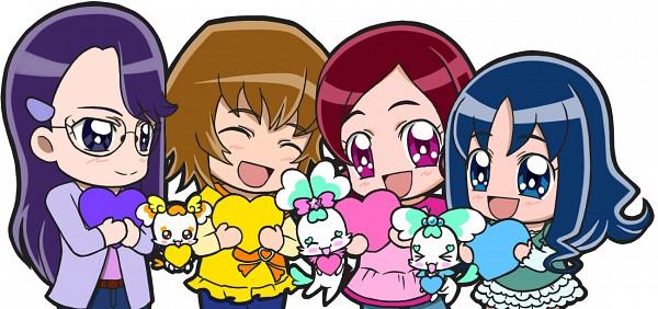 Tags: Anime, Pixiv Id 567422, Heartcatch Precure!, Shypre, Myoudouin Itsuki, Hanasaki Tsubomi, Kurumi Erika, Tsukikage Yuri, Coffret, Potpourri, Fanart