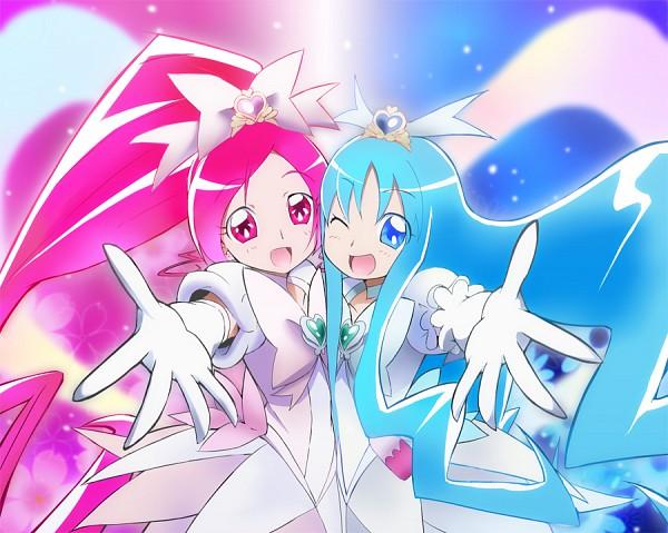 Tags: Anime, Hatasuke, Heartcatch Precure!, Kurumi Erika, Super Cure Marine, Cure Blossom, Super Cure Blossom, Cure Marine, Hanasaki Tsubomi, Pixiv, Fanart From Pixiv, Fanart, Heartcatch Super Silhouettes