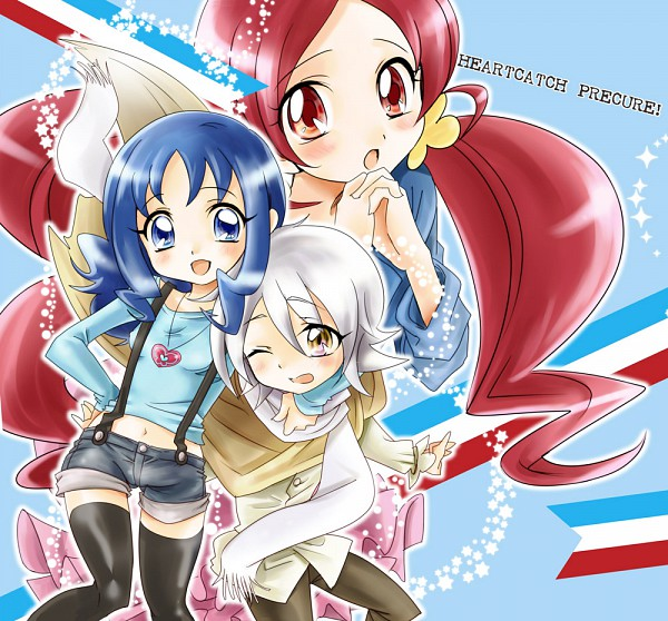 Tags: Anime, Yucco, Heartcatch Precure!, Hanasaki Tsubomi, Kurumi Erika, Olivier (Pretty Cure), Fanart From Pixiv, Pixiv, Fanart