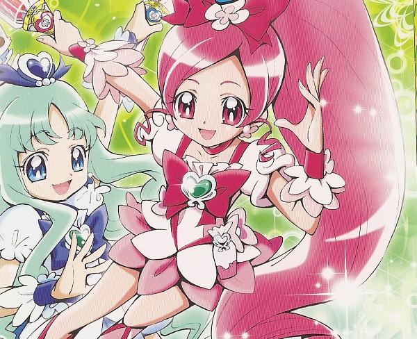 Tags: Anime, Kamikita Futago, Heartcatch Precure!, Hanasaki Tsubomi, Kurumi Erika, Cure Blossom, Cure Marine
