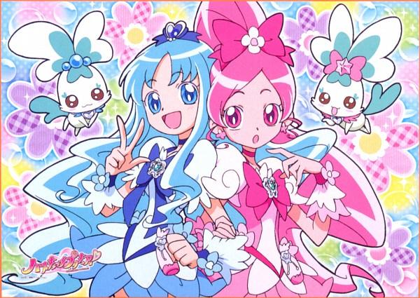 Tags: Anime, Heartcatch Precure!, Kurumi Erika, Cure Blossom, Coffret, Cure Marine, Shypre, Hanasaki Tsubomi, Scan, Official Art