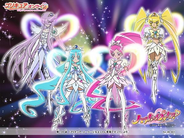 Tags: Anime, Heartcatch Precure!, Hanasaki Kaoruko, Cure Blossom, Super Cure Moonlight, Cure Marine, Tsukikage Yuri, Cure Moonlight, Super Cure Sunshine, Myoudouin Itsuki, Hanasaki Tsubomi, Super Cure Marine, Cure Sunshine