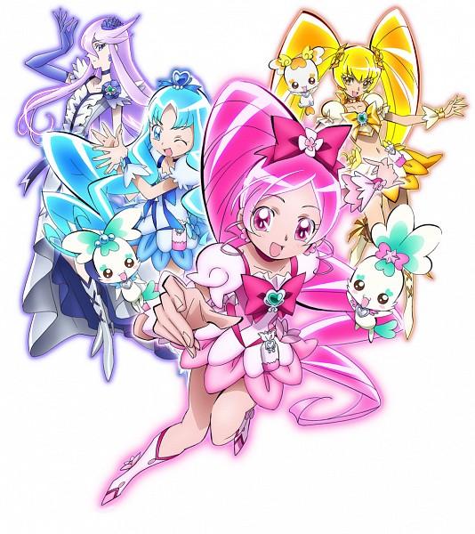 Tags: Anime, Heartcatch Precure!, Kurumi Erika, Tsukikage Yuri, Cure Moonlight, Cure Blossom, Potpourri, Coffret, Cure Marine, Myoudouin Itsuki, Shypre, Cure Sunshine, Hanasaki Tsubomi