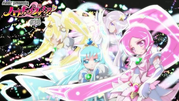 Tags: Anime, Heartcatch Precure!, Super Cure Moonlight, Myoudouin Itsuki, Kurumi Erika, Super Cure Sunshine, Cure Sunshine, Cure Blossom, Super Cure Marine, Cure Marine, Super Cure Blossom, Cure Moonlight, Tsukikage Yuri