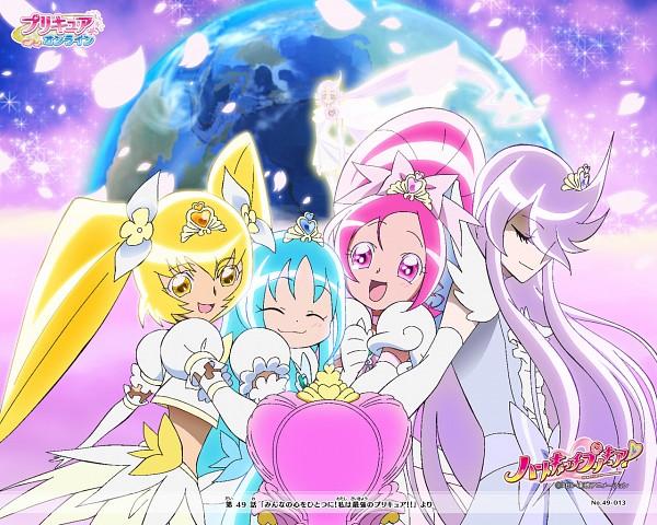Tags: Anime, Toei Animation, Heartcatch Precure!, Cure Marine, Cure Moonlight, Super Cure Sunshine, Tsukikage Yuri, Hanasaki Tsubomi, Super Cure Marine, Myoudouin Itsuki, Infinity Silhouette, Kurumi Erika, Super Cure Blossom