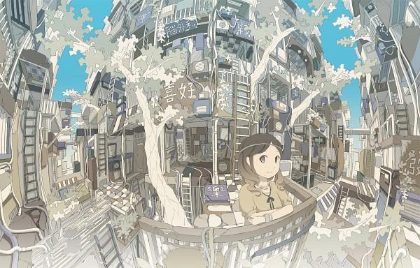 Tags: Anime, Hebitsukai, Ladder, Japanese House, Original
