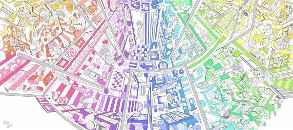 Tags: Anime, Hebitsukai, Kitchen, Bowling Ball, Kotatsu, Office, Facebook Cover, Original