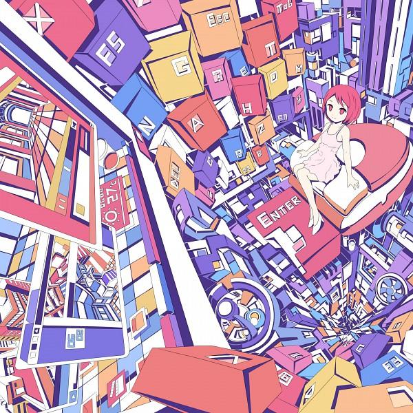 Tags: Anime, Hebitsukai, Keyboard (Computer), Roomscape, Pixiv, Original