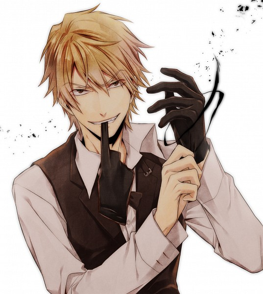 Tags: Anime, Pasta69, DURARARA!!, Heiwajima Shizuo, Adjusting Gloves, Biting Gloves, Bartender, Fanart, Pixiv