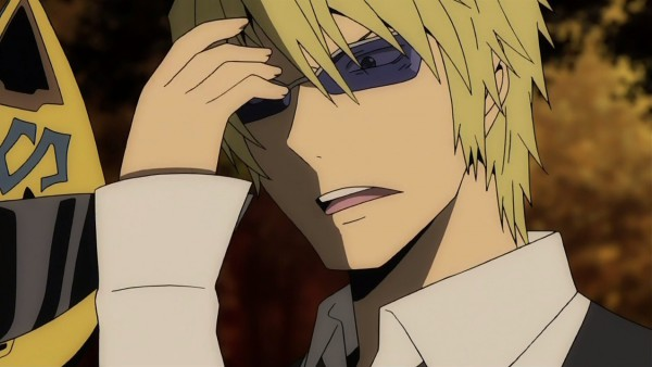 Tags: Anime, Brains Base (Studio), DURARARA!!, Sturluson Celty, Heiwajima Shizuo, Screenshot