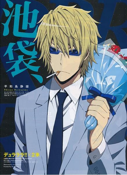 Tags: Anime, Takata Akira, Shuka (Studio), DURARARA!!, Heiwajima Shizuo, Mobile Wallpaper, Scan, Official Art