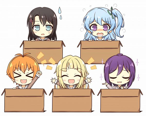 Tags: Anime, Pixiv Id 448066, BanG Dream! Girls Band Party! PICO, BanG Dream! Girls Band Party!, BanG Dream!, Matsubara Kanon, Seta Kaoru, Tsurumaki Kokoro, Okusawa Misaki, Kitazawa Hagumi, Hello Happy World!