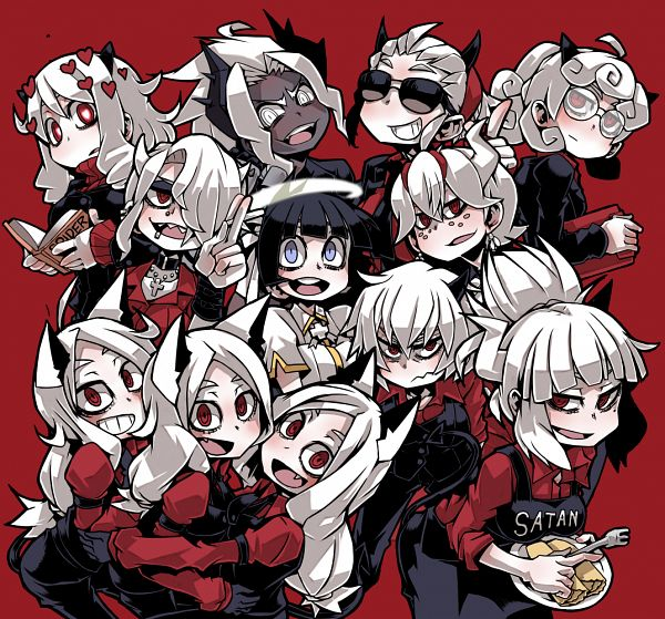 Tags: Anime, Pixiv Id 147811, Helltaker, Zdrada, Modeus, Justice (Helltaker), Cerberus (Helltaker), Pandemonica, Malina (Helltaker), Judgement (Helltaker), Lucifer (Helltaker), Beelzebub (Helltaker), Azazel (Helltaker)