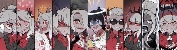 Tags: Anime, Pixiv Id 455690, Helltaker, Malina (Helltaker), Judgement (Helltaker), Lucifer (Helltaker), Beelzebub (Helltaker), Azazel (Helltaker), Zdrada, Modeus, Justice (Helltaker), Cerberus (Helltaker), Pandemonica