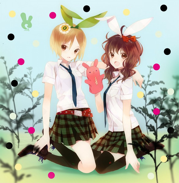 Tags: Anime, Hensoku Souichi, Yamai (Nico Nico Singer), Usa (Nico Nico Singer), Hand Puppet, Usa Colony, Nico Nico Singer, Pixiv, Original