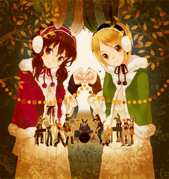 Tags: Anime, Hensoku Souichi, Yamai (Nico Nico Singer), Usa (Nico Nico Singer), Usa Colony, Drum, Nico Nico Singer, Pixiv, Nico Nico Douga, Fanart