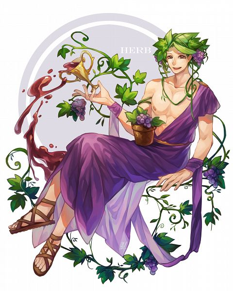 Tags: Anime, Pixiv Id 8141403, Cookie Run, Herb Cookie (God Of Grape Juice), Herb Cookie, Potted Plant, Fanart From Pixiv, Pixiv, Fanart