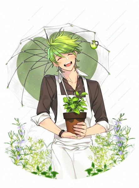 Tags: Anime, Pixiv Id 121849, Cookie Run, Herb Cookie, Brown Shirt, Potted Plant, Vase, Pixiv, Fanart From Pixiv, Fanart, Mobile Wallpaper