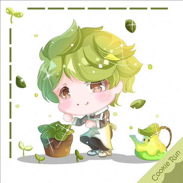 Tags: Anime, Pixiv Id 11982709, Cookie Run, Herb Cookie, Herb Teapot, Potted Plant, Pixiv, Fanart, Fanart From Pixiv