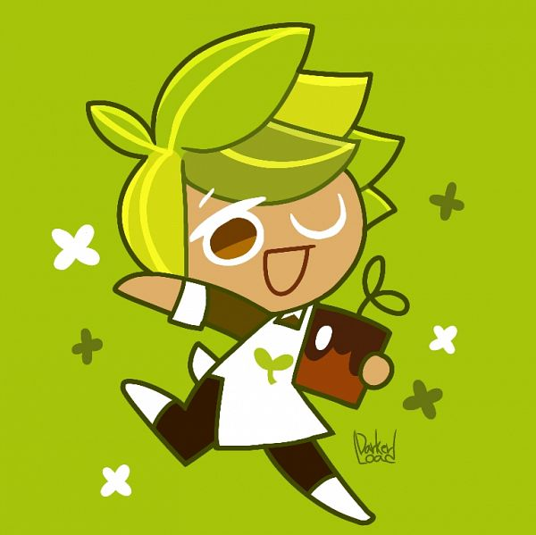 Tags: Anime, Darkerload, Cookie Run, Herb Cookie, Potted Plant, Fanart From Pixiv, Pixiv, Fanart