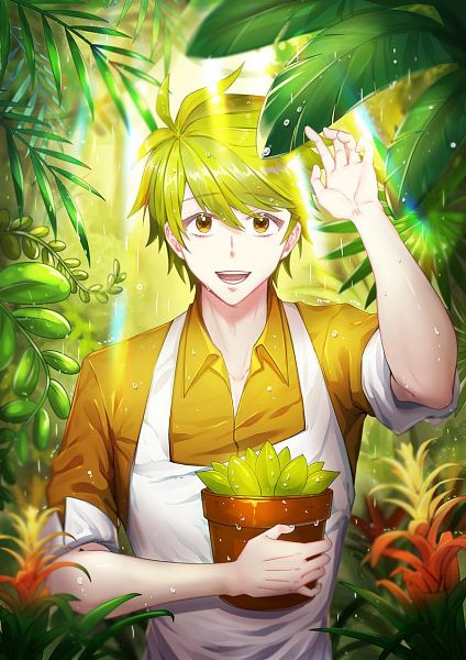 Tags: Anime, NIJEY11, Cookie Run, Herb Cookie, Potted Plant, Twitter, Fanart