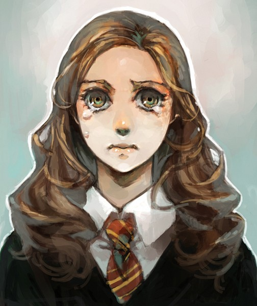 Tags: Anime, Pixiv Id 41744, Harry Potter, Hermione Granger, Gryffindor House