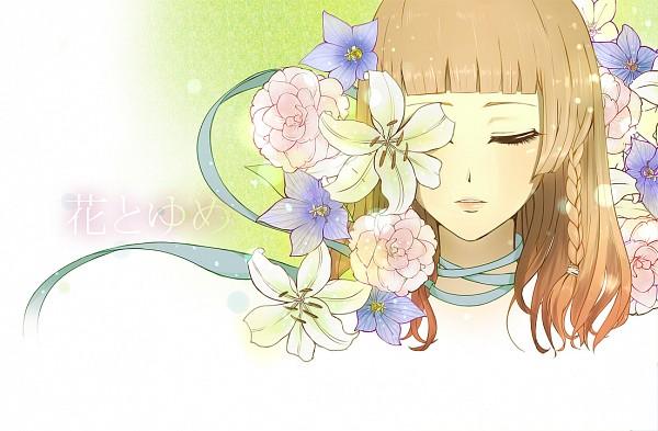 Tags: Anime, Pixiv Id 2826706, AMNESIA, Heroine (AMNESIA), Eye Flower, Orange Lips, Tape, Fanart From Pixiv, Pixiv, Fanart