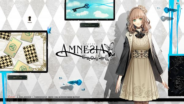 Tags: Anime, Hanamura Mai, AMNESIA, Heroine (AMNESIA), Keyhole, Wallpaper, HD Wallpaper, Official Art, Facebook Cover, Official Wallpaper