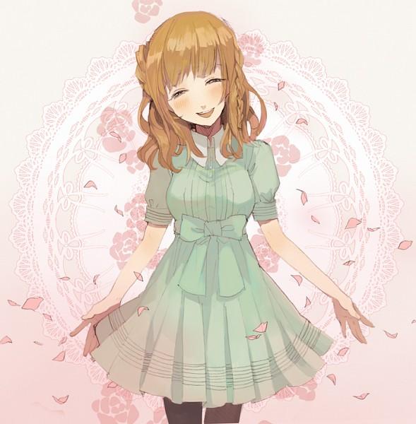 Tags: Anime, Kairin, AMNESIA, Heroine (AMNESIA), Eyes Half Closed, Doily, Pixiv, Fanart, Fanart From Pixiv