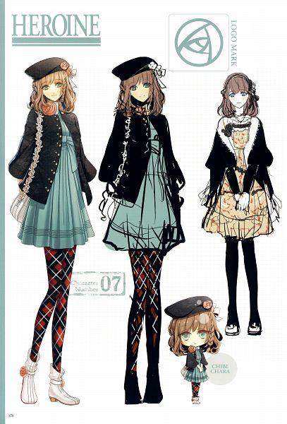 Tags: Anime, Hanamura Mai, AMNESIA, Heroine (AMNESIA), Mobile Wallpaper, Character Sheet, Self Scanned, Scan, Official Art