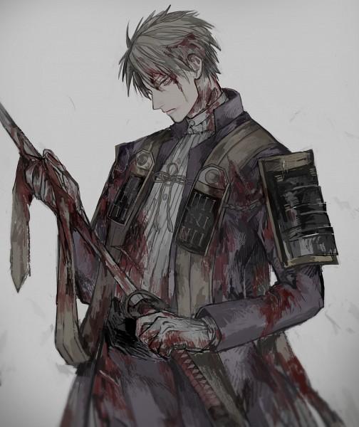 Tags: Anime, Pixiv Id 5978209, Touken Ranbu, Heshikiri Hasebe, Blood On Weapons, Uchigatana, PNG Conversion