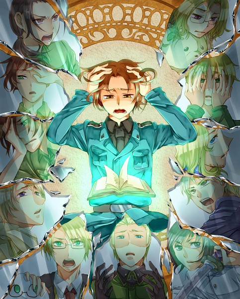 Tags: Anime, Pokupoku, Axis Powers: Hetalia, Hetaoni, Japan, Spain, Russia, Kumajirou, United Kingdom, Prussia, South Italy, United States, China