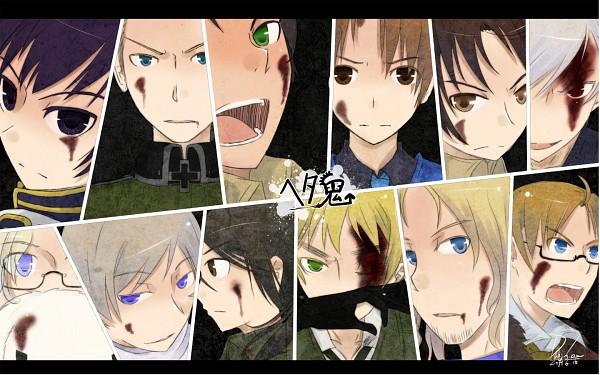 Tags: Anime, Murakami Yuichi, Dj.Lee, Axis Powers: Hetalia, Hetaoni, United States, China, Germany, France, Canada, North Italy, Kumajirou, Japan